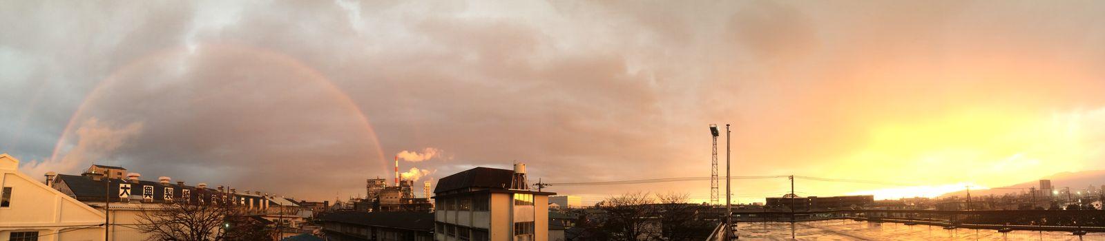 東の空と西の空