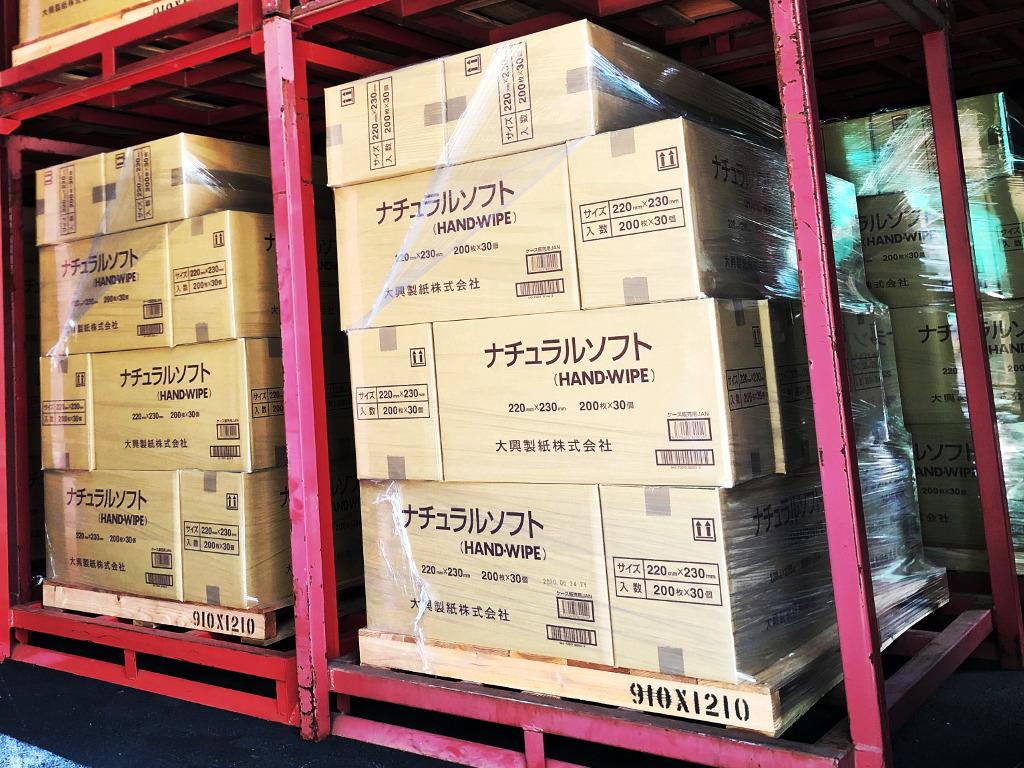 ペーパータオルを熊本県人吉市へ寄付しました